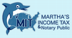 Tax preparation, Document Translation and Notary Public Logo